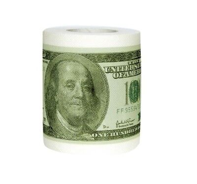 One Hundred Dollar Bill Toilet Paper Novelty Money Fun $100 TP Roll Gag Gift