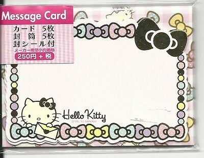 Sanrio Hello Kitty Notecards With Envelopes Stickers Message Cards