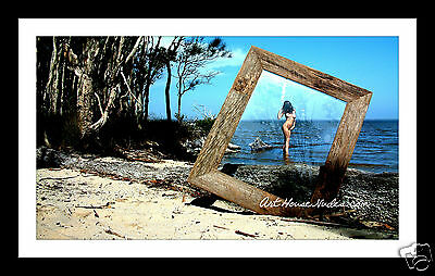 "FRAMED - Public Female Nude in full colour - 12 x 8"" AUS"