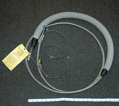 10 Ft  Insulated Cryogenic Transfer Hose with Sensor Cabling and Fittings