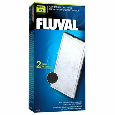 Fluval U2 Aquarium Stage 2 Poly Carbon Cartridge (2 Pack) *Genuine* • EUR 5,70