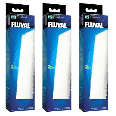 Fluval U4 Aquarium Stage 1 Filter Foam Pads *Genuine* 3 Packs of 2 BUNDLE