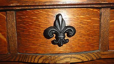 Drawer Knobs / Cabinet Knob / Fleur de Lis / Cast Iron /  towel or key hanger