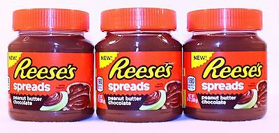 3 Can Reese's Peanut Butter Chocolate Spread 13. oz ~NEW & FRESH ~