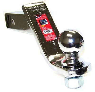 """4"""" Drop Hitch Receiver Chrome Trailer Ball Mount 2"""" Receiver With  2-5/16"""" Ball"""