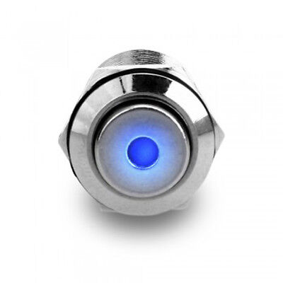 Micro Self-locking 2.5V 12mm On/Off Push Button Switch + Blue Power LED for Car