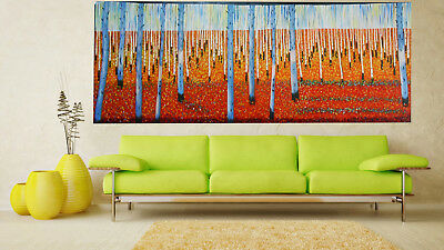 original Art  Painting Jane Crawford Australia tree forest Landscape  aboriginal