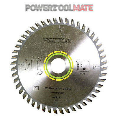 Festool 491952 fine tooth blade for TS55 R plunge saw (48 tooth)