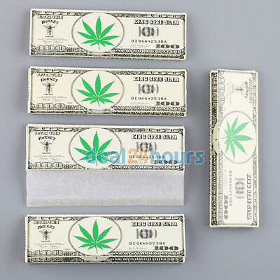5 Booklets 107mm King Size Cigarette Smoking Rolling Papers All 160 Leaves