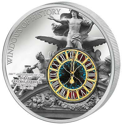 Cook 2013 Windows of History - Grand Central Terminal New York Silver Proof Coin