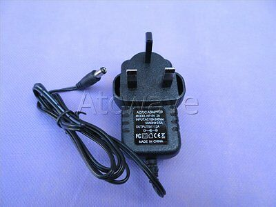 DC 5V 2A/2000mA 2.1mm Power Supply for HDMI Adaptor/ CCTV Cameras UK Plug