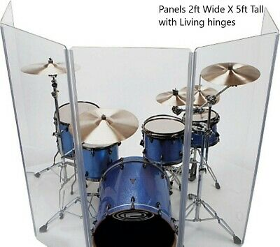 Drum shield 5 section drum shield with Living Hinges Drum Panels
