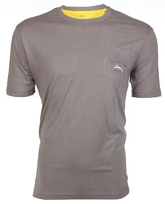 TOMMY BAHAMA Mens T-Shirt BALI HIGH TIDE POCKET Relax BURN GREY Embroidered M-XL