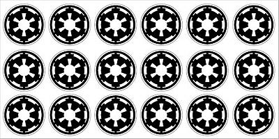 Star Wars Imperial Kill Badges Decals Stickers Set