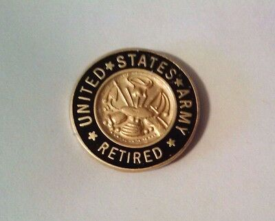 United States Army Retired Lapel Pin    5/8""