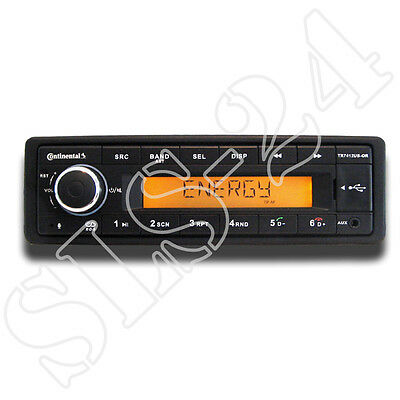 Continental TR7412UB-OR MP3 Autoradio m. Bluetooth USB AUX-IN 12V Radio FM Tuner