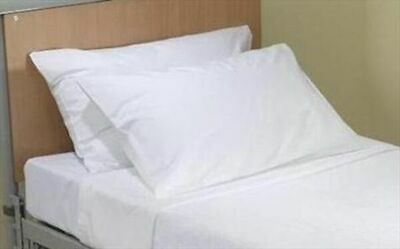 2 X STANDARD PLAIN WHITE PILLOWCASES  HOME&HOTEL USE PILLOW CASES COVER51x75CM