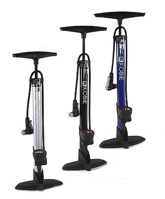 Kobie Clever Valve Bicycle Floor Pump For Bike - New