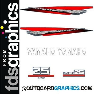 Yamaha 25hp 2 stroke outboard engine graphics/sticker kit