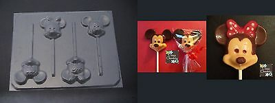 MICKEY MINNIE MOUSE Face Head Chocolate Candy Soap Mold