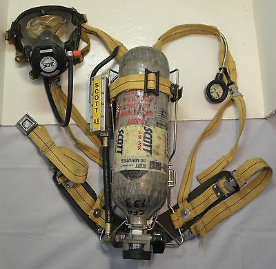 Refurb Scott 4.5 SCBA Wireframe Firefighter Air Pak 1992 Ed (Pack Mask Cylinder)