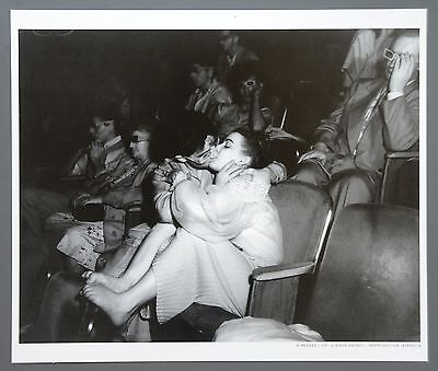 Weegee Ltd. Ed. Photo Print 35x30 Cinema at Theater Palace New York 1950 Kissing
