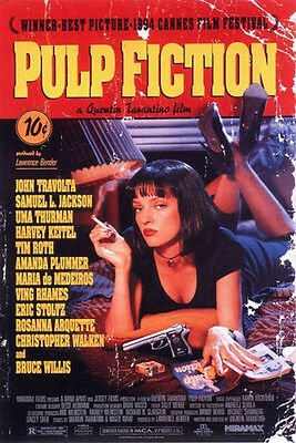 PULP FICTION MOVIE SCORE UMA THERMAN POSTER (61x91cm)  PICTURE PRINT NEW