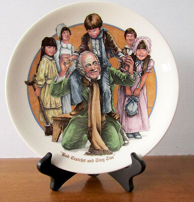 Wedgewood Charles Dickens collector plate -- Bob Cratchit and Tiny Tim