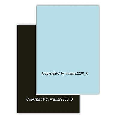 Pick 100 Sheet Blue Black 210GSM A4 Cardstock Cardboard Thick Paper Double Sided