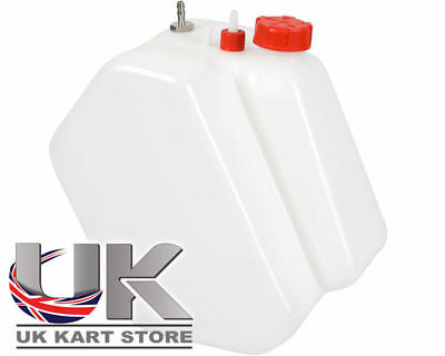 Petrol / Fuel Tank 7.5 Litre Push Through Type Red Caps UK KART STORE