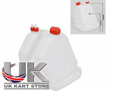 Petrol / Fuel Tank 9 Litre Quick Release Type Red Caps Go Kart