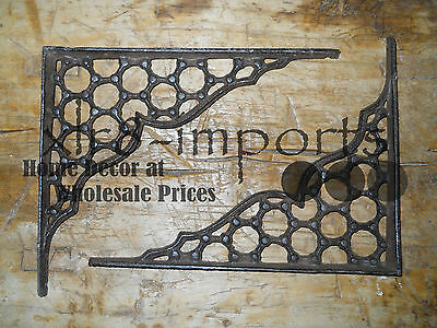 7 Cast Iron Antique Style LARGE RING Brackets, Garden Braces Shelf Bracket