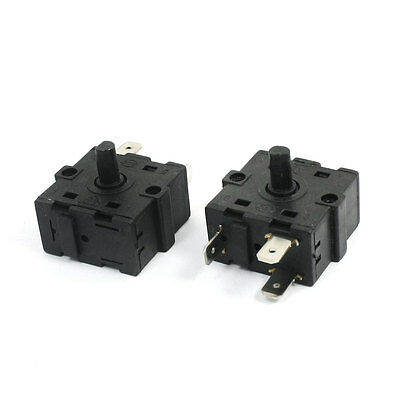 2 Pcs Replacement 3-Pin 3-Position Electric Room Heater Rotary Switch Selector
