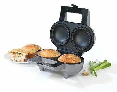 Electric Giles Double Deep Pie Maker Non Stick Extra Thick Beef / Chicken Red