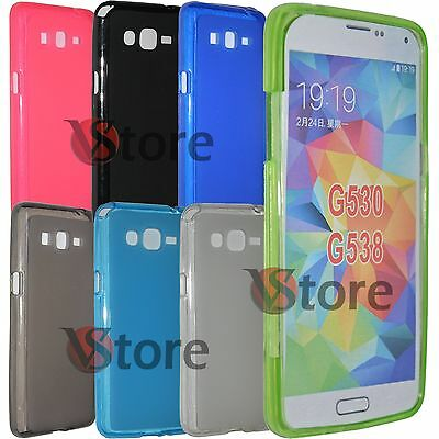 Cover Custodia Per Samsung Galaxy Grand Prime G530 Gel Silicone TPU