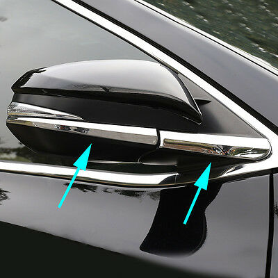 Chrome Rearview Side Mirror Trim Cover Molding For Toyota Highlander 2014-2018