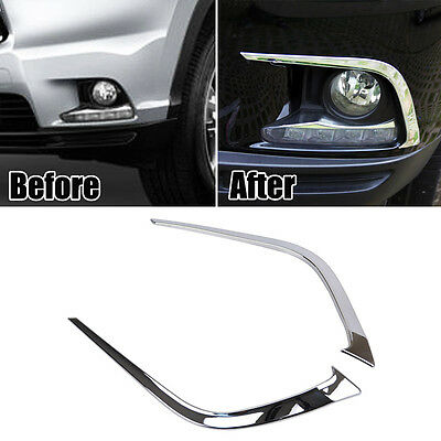 Fit For Toyota Highlander 2014-2016 Chrome Front Fog Light Lamp Cover Trim Strip