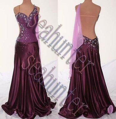 U0117 Women's Ballroom gown tango waltz quickstep salsa dance dress Custom made
