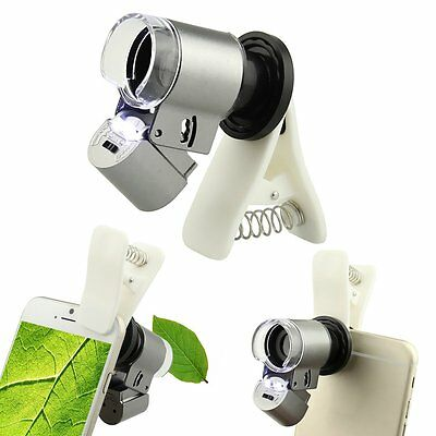 Universal 65X Optical Zoom Clip Telescope Camera Microscope Lens for Cell Phone