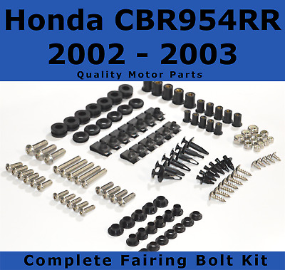Complete Fairing Bolt Kit body screws for Honda CBR 954 RR 2002 - 2003 Stainless