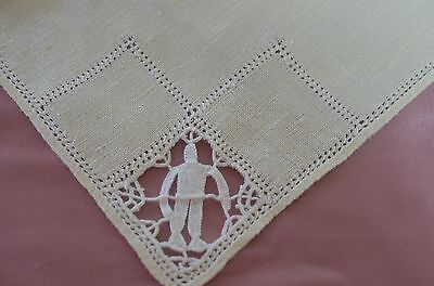 Vintage Italian Reticella Linen & Lace Runner, 8 Placemats & Napkins Pp826