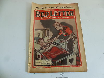 "RED LETTER Comic - Vol 45 - No 14 - Date 04/07/1942 - UK ""WOMAN"" Paper Mag"