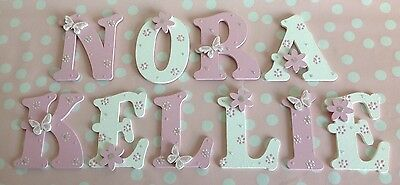 Children Wooden Letter Alphabet Bed Wall Door ANY COLOUR Purple,Lilac,Pink,Green
