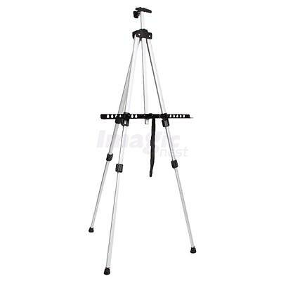 Adjustable Aluminium Alloy Folding Artist Painting Easel Tripod +Carry Bag Wihte