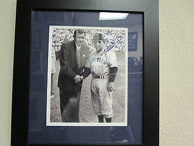 Yogi Berra Signed/Framed Dbl Mat  with Babe Ruth B&W 8X10 SMC50707 RIP