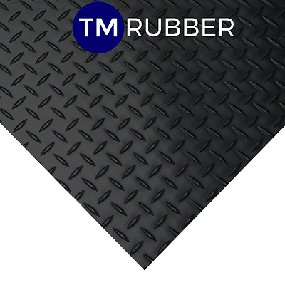 Rubber Checker Plate Flooring/mat/matting W1200Mm X D3Mm Sold Per Mtr Free Post