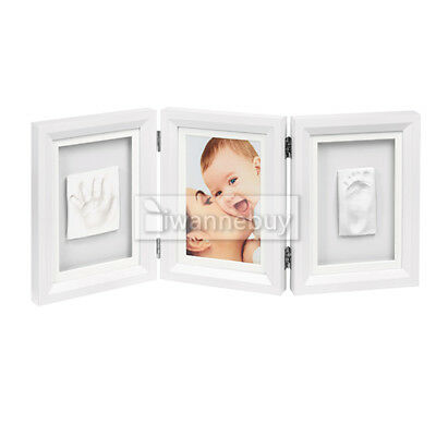 Baby Footprint Photo Frame New Foot or Hand Print Cast Set Kit Gift