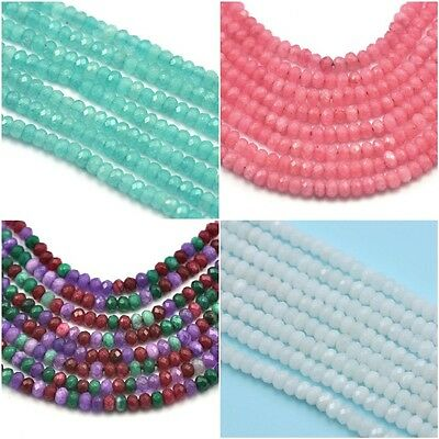 Size 3mm Faceted Rondelle Agate Semi-precious Gemstone Beads Jewellery Making