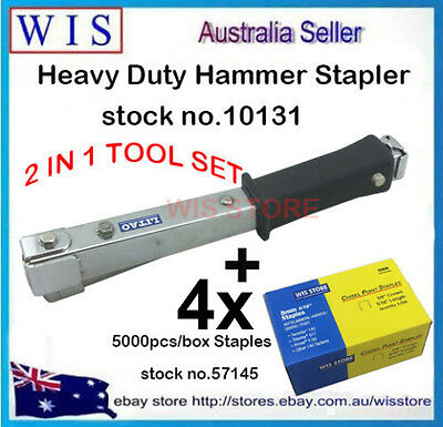 Hammer Tacker Carpet Underlay Stapler & 4 x 5000 10mm Staples,Inuslation Job