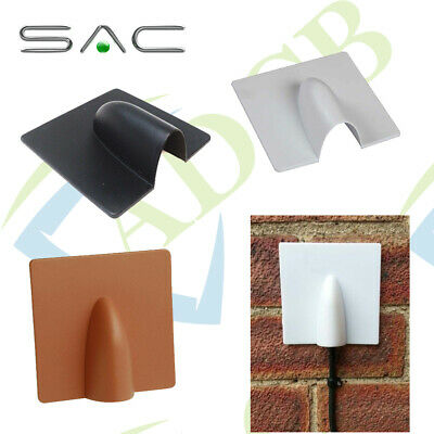 BRICK Burst Blast CABLE COVER PLATE Coax Wire ROMAN NOSE Black White Brown WALL